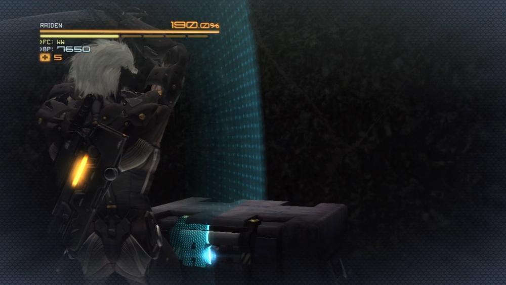 Raiden si raccoglie per cercare di colpire una valigia. Non potete capire, è roba da ninja-cyborg.